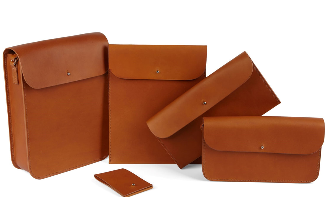 Handcrafted Leather Accessories- tan- Angelou Collection